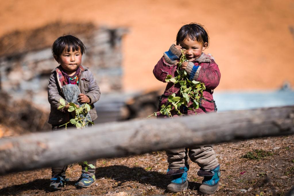 Children Kids Trekking Nepal